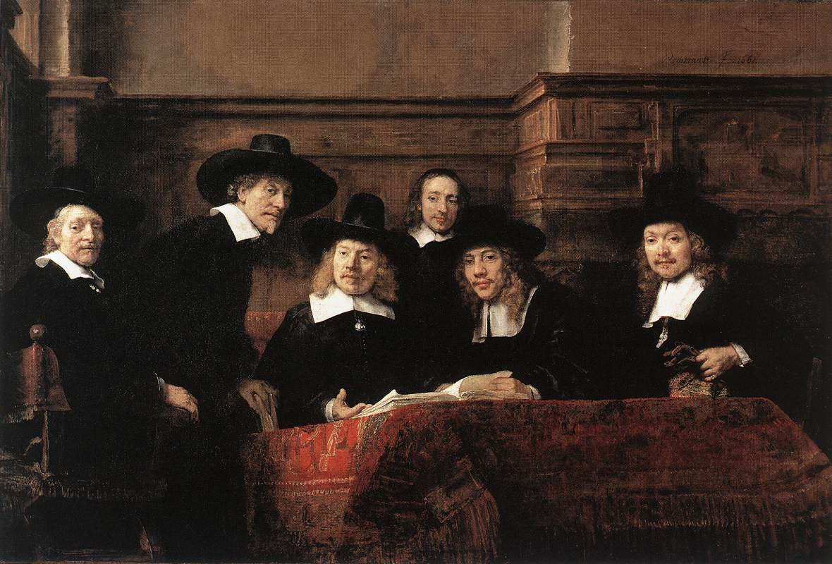 Rembrandt Van Rijn, Sampling Officials of the Drapers' Guild 1662