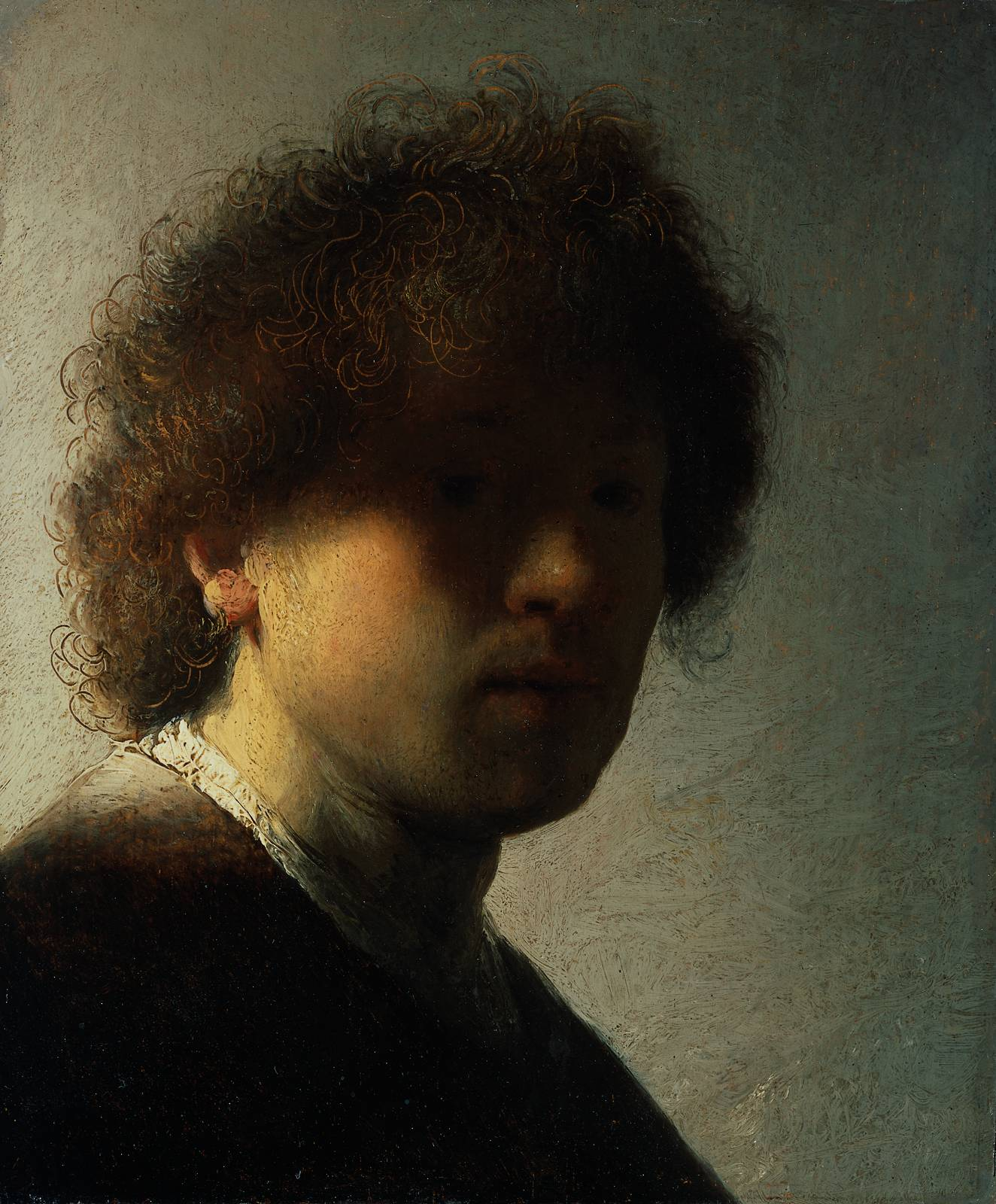 Rembrandt Van Rijn, Self Portrait at an Early Age, 1628
