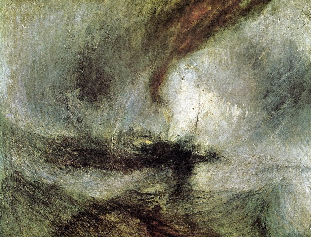 Joseph Mallord William Turner, Snow Storm- Steam-Boat off a Harbour's Mouth c. 1842