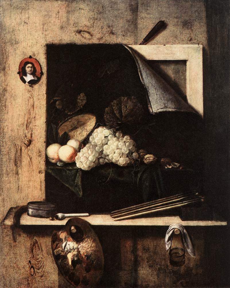 Cornelis Gijsbrechts, Still-Life with Self-Portrait 1663