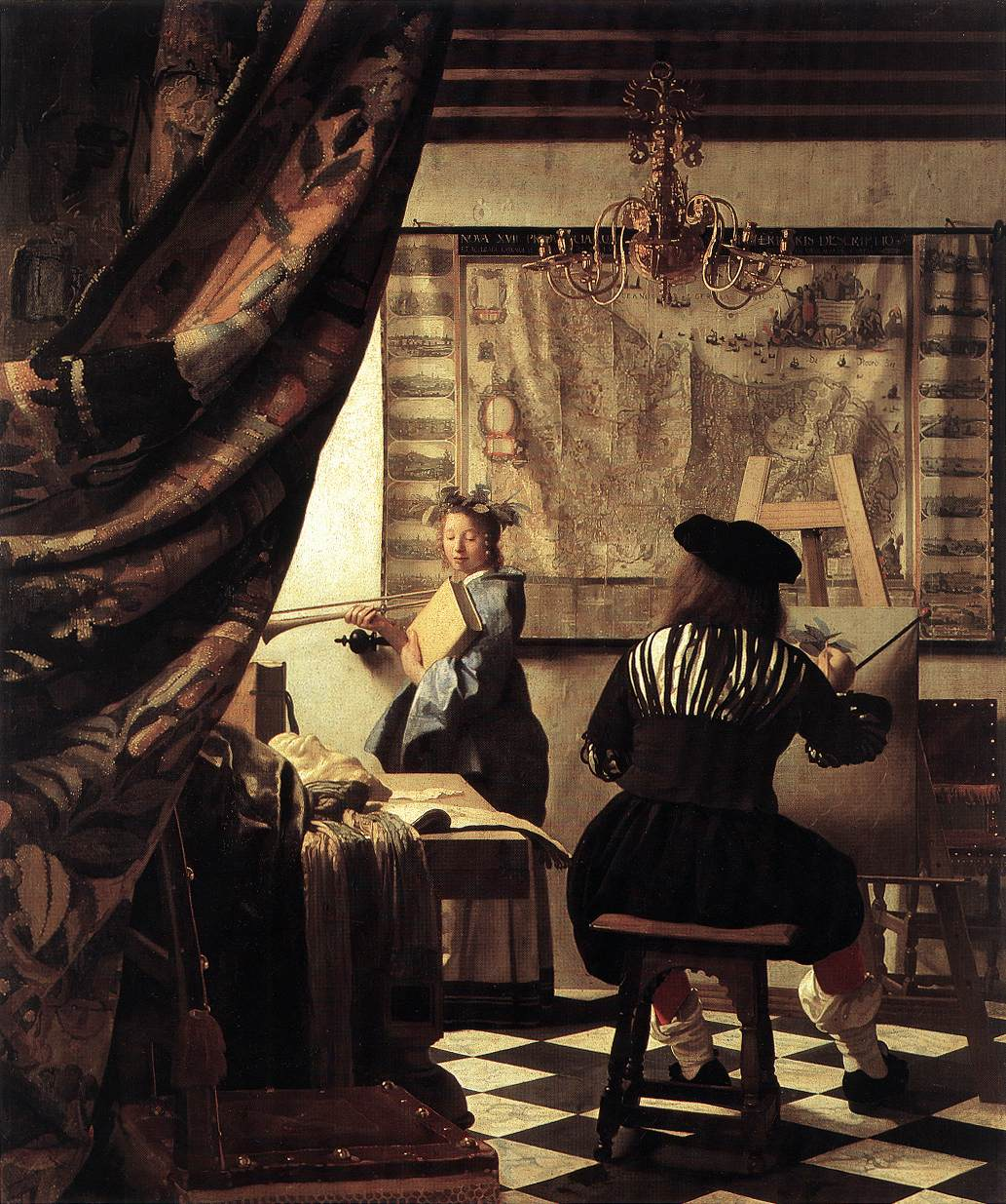 Jan Vermeer Van Delft, The Artist's Studio, 1665