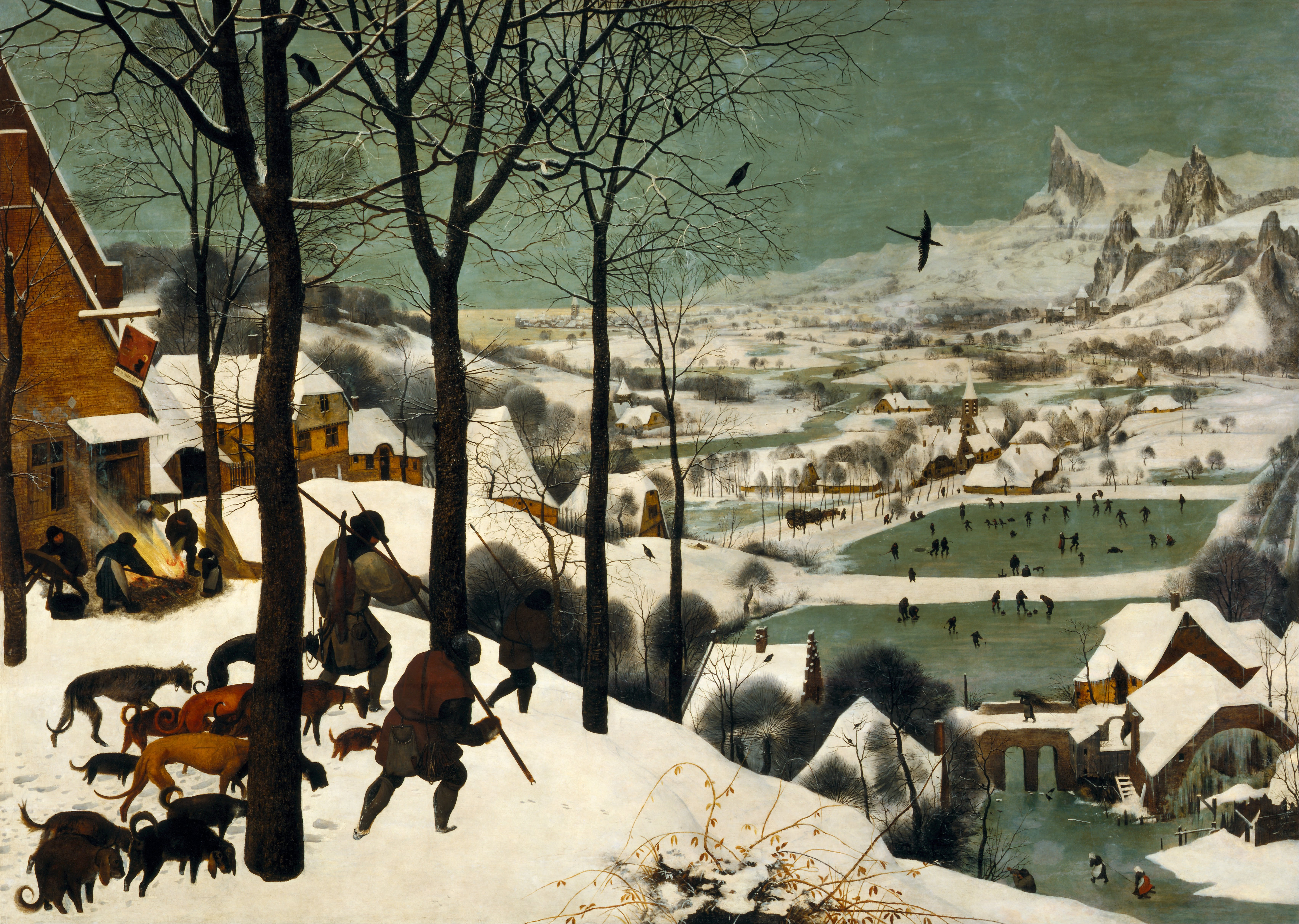 Pieter the Elder Bruegel, The Hunters in the Snow (Winter) 1565