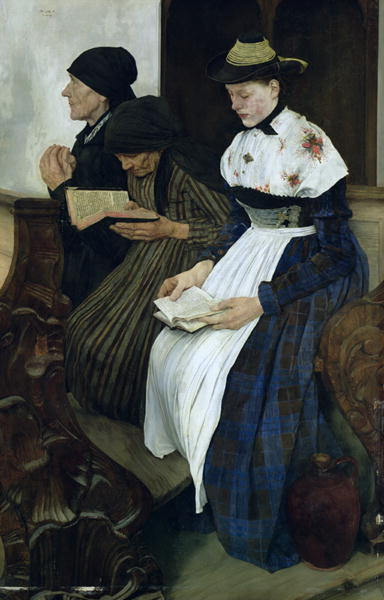 Wilhelm Leibl, Three Women in Church, 1882