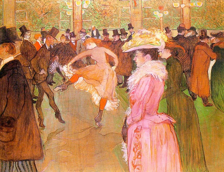 Henri De Toulouse-Lautrec, Training of the New Girls by Valentin at the Moulin Rouge 1889-90