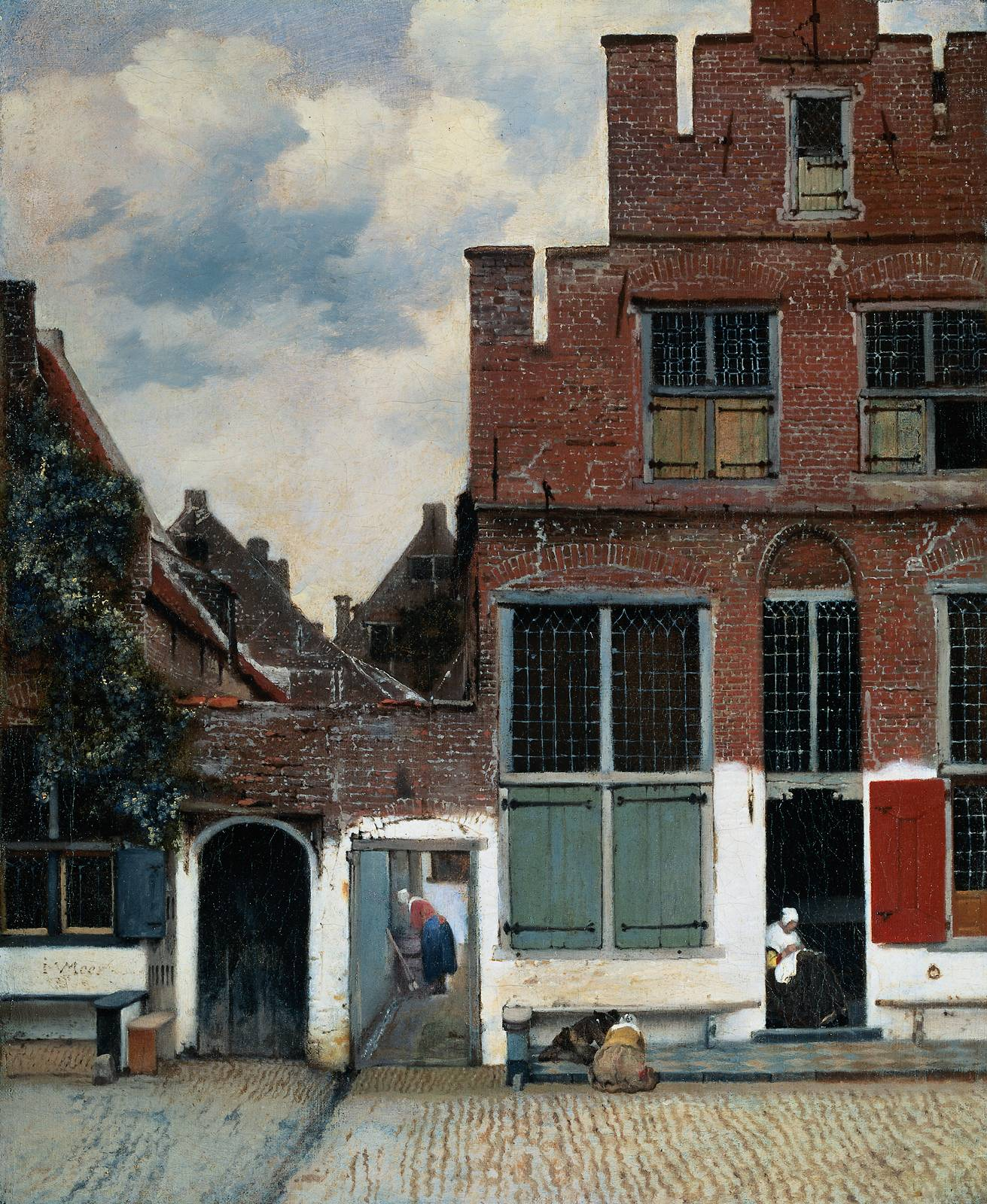 Jan Vermeer Van Delft, View of Houses in Delft, known as 'The Little Street', 1657-8