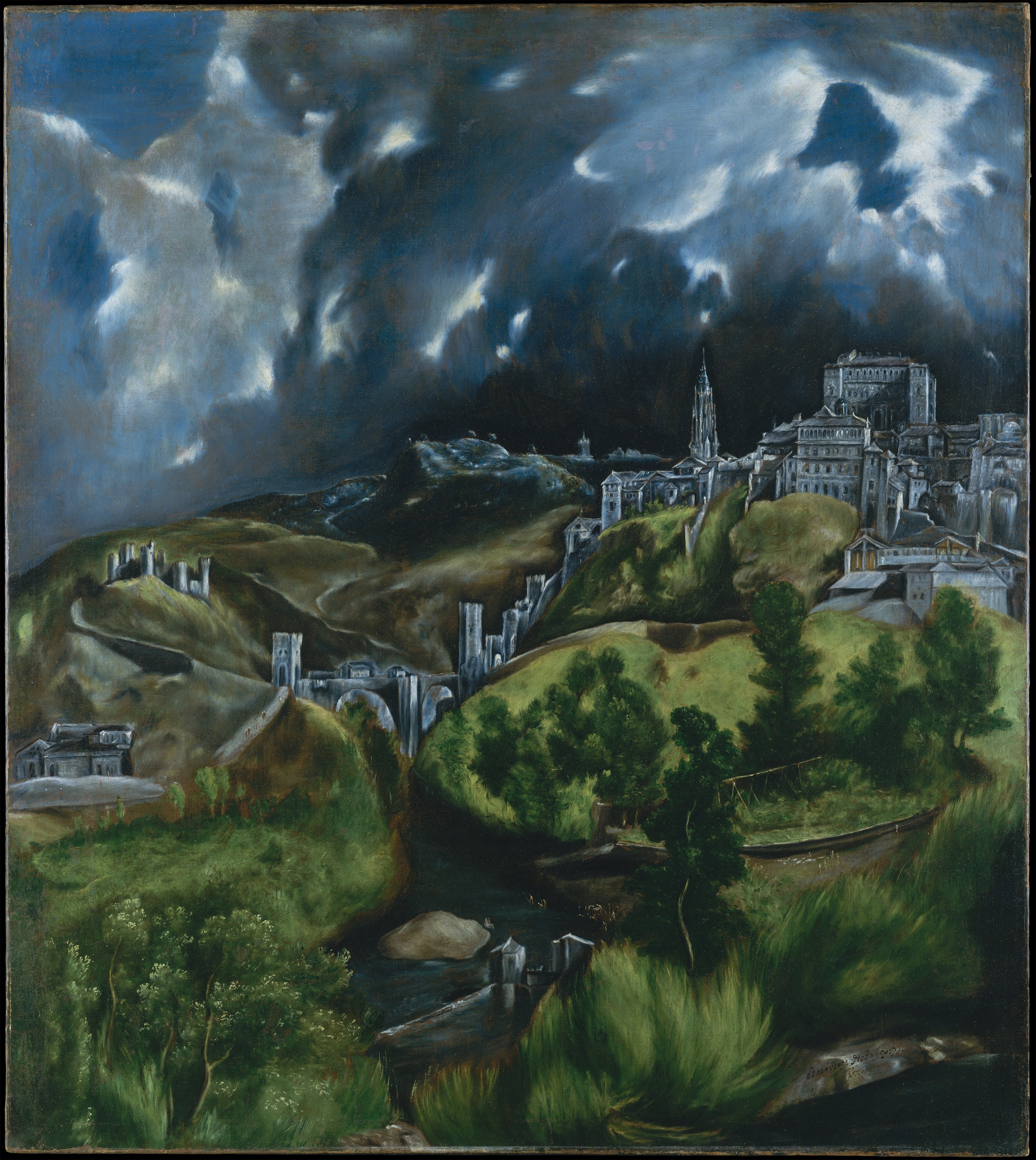 El Greco, View of Toledo 1597-99