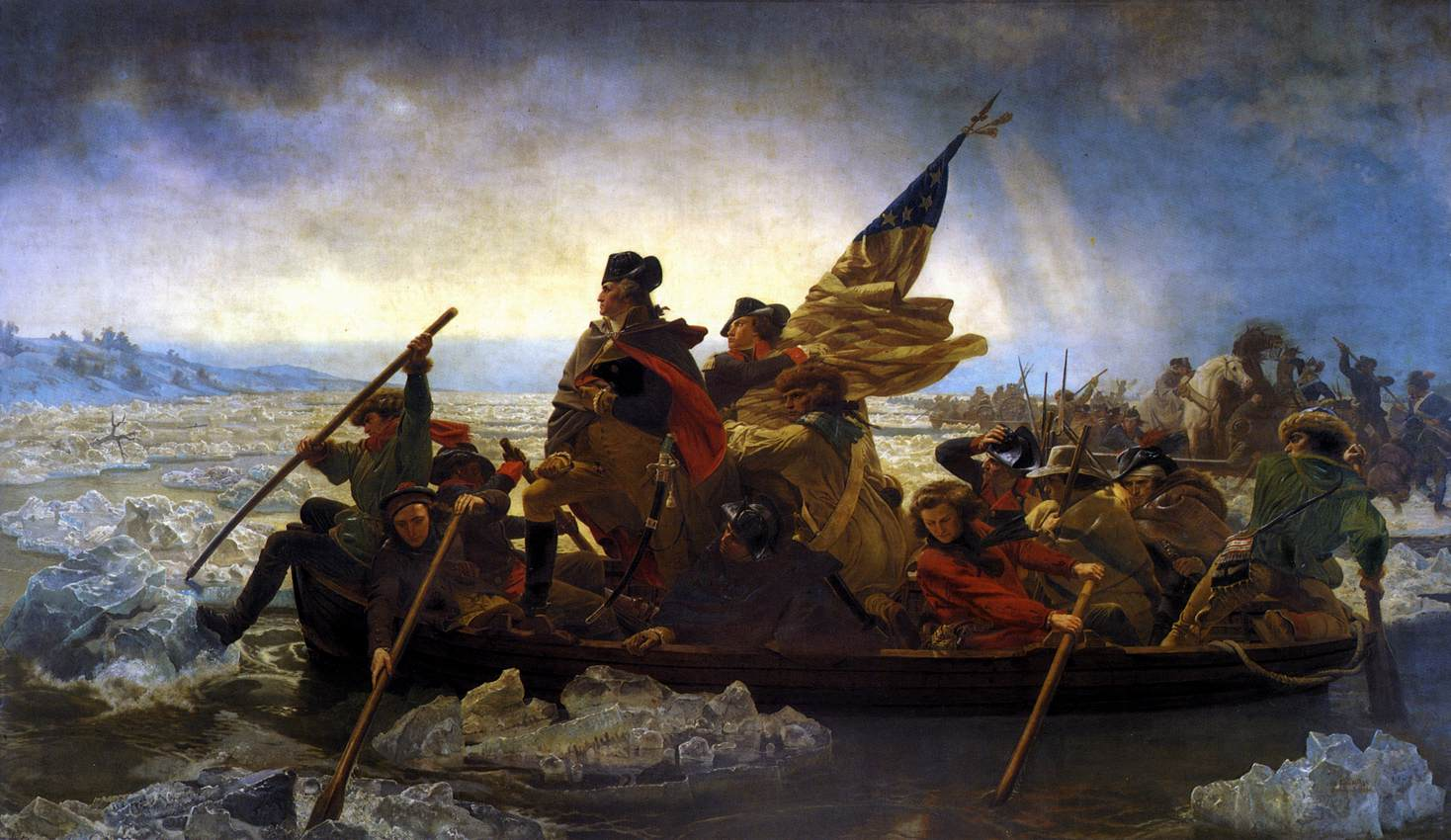 Nicolas-Bernard Lepicier, Washington Crossing the Delaware 1851