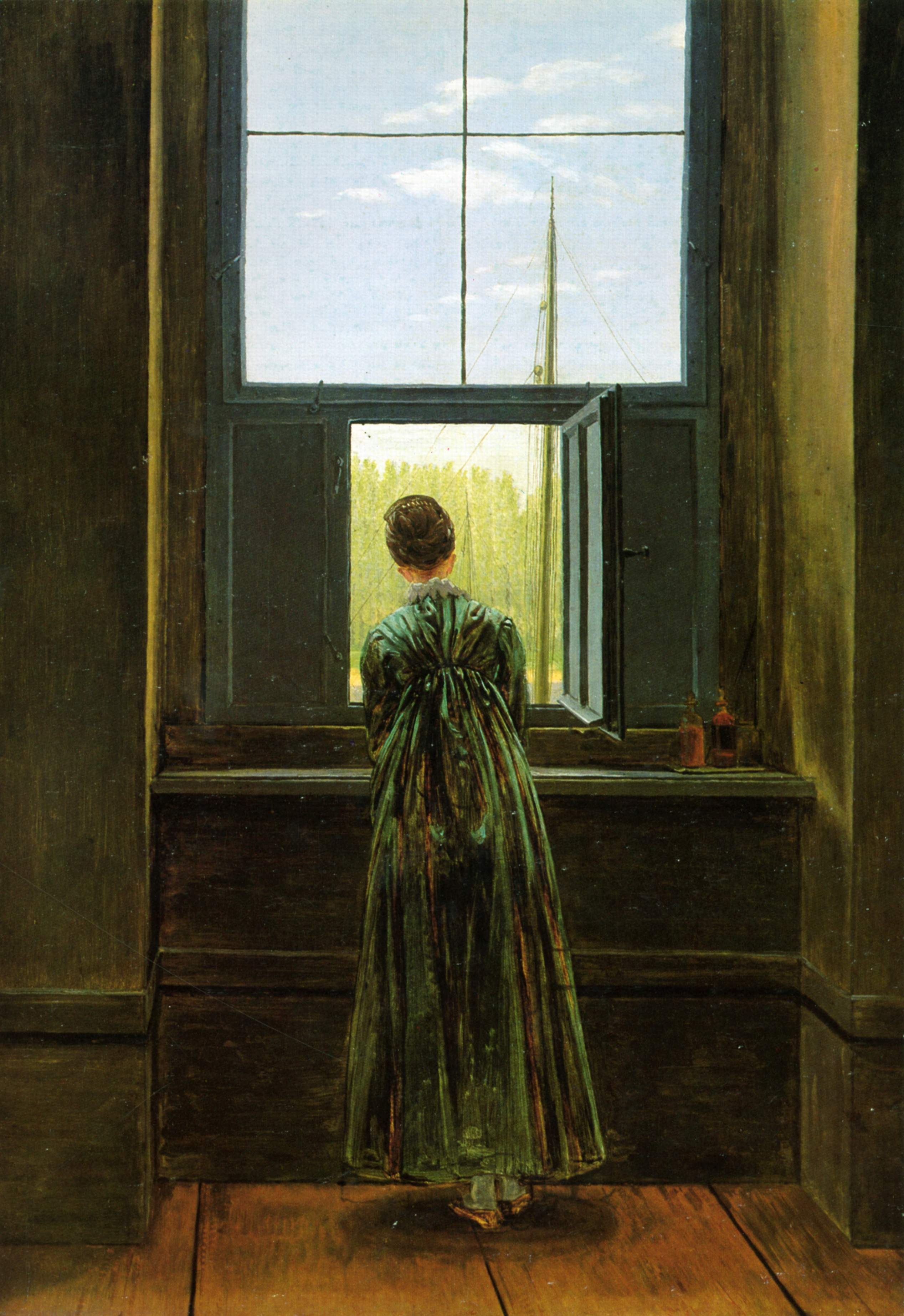 Caspar David Friedrich, Woman at a Window 1822