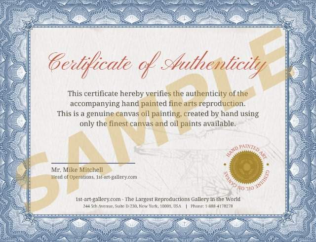 Certificate of Authenticity | 1st Art Gallery