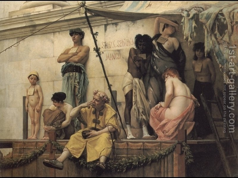 The Slave Market Painting By Gustave Clarence Rodolphe Boulanger