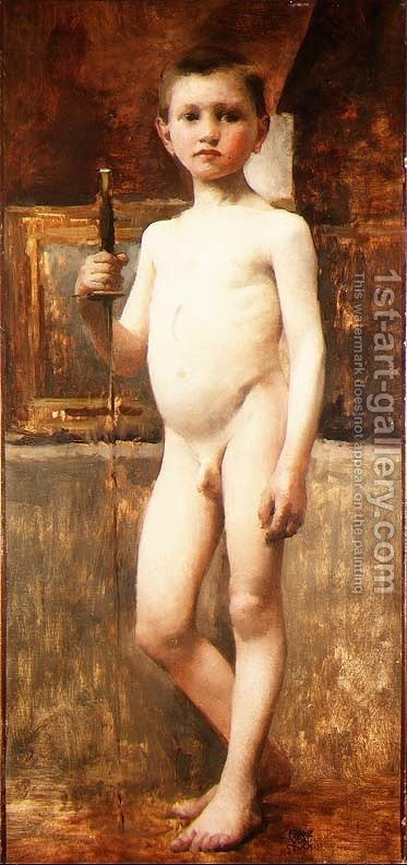 Nude Boy with Sword Franz von Stuck Reproduction | 1st Art Gallery