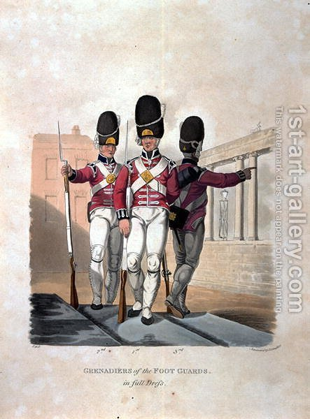 Grenadiers of the Foot Guards in Full Dress, from Costumes