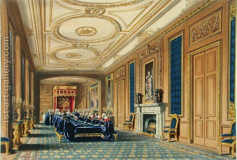the throne room windsor castle the installation of the order of the garter 1838 james. Black Bedroom Furniture Sets. Home Design Ideas