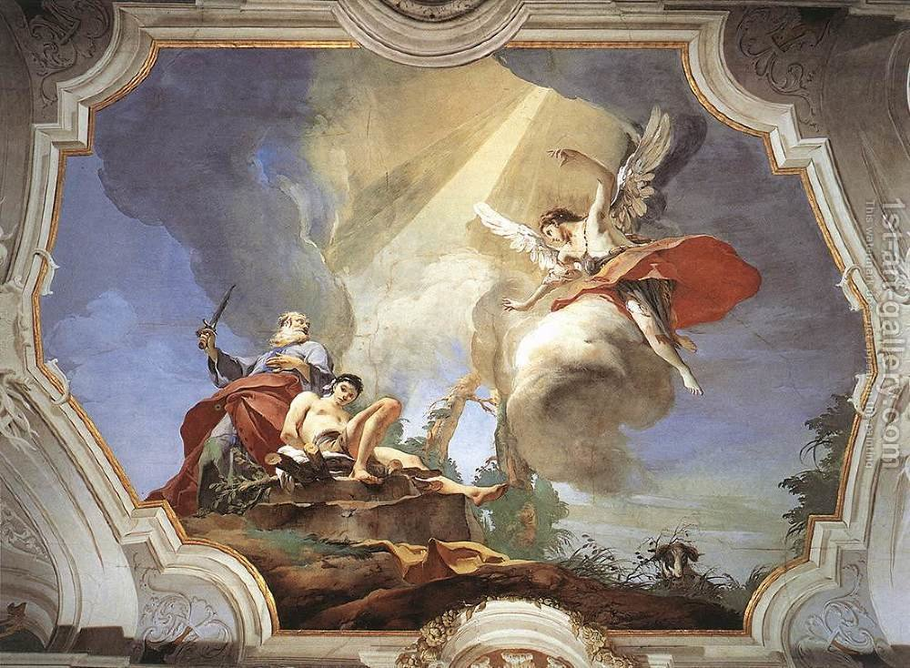Image result for Giambattista Tiepolo sacrifice of isaac painting