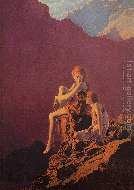 Contentment Maxfield Parrish Inspired By Reproduction 1st Art Gallery