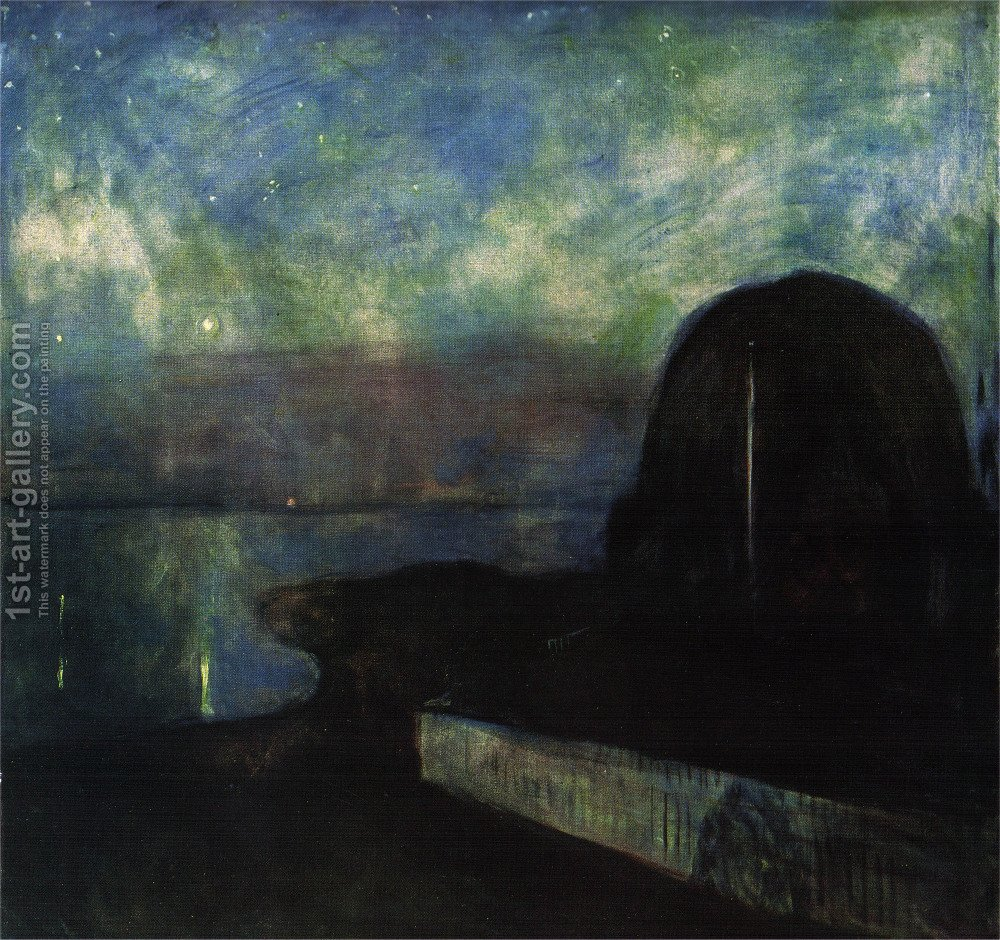 an analysis of the abstract painting starry night by edvard munch