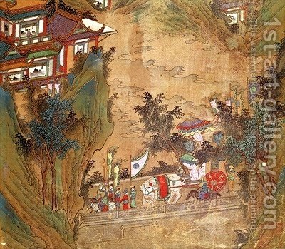 Sixun li landscape tang dynasty reproduction 1st art gallery for Dynasty mural works