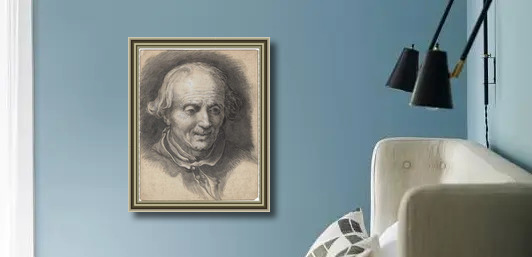 Portrait Of An Old Man Looking Down Painting By Abraham Bloemaert Reproduction 1st Art Gallery