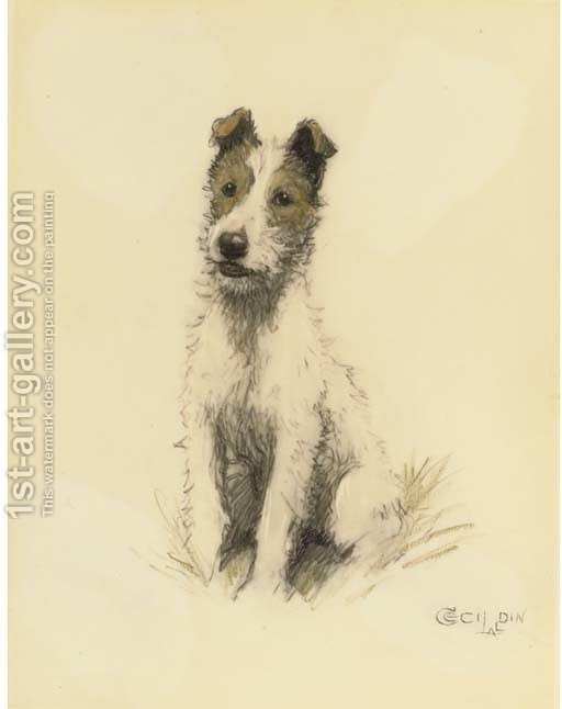 A wire haired fox terrier Cecil Charles Aldin Reproduction | 1st Art ...