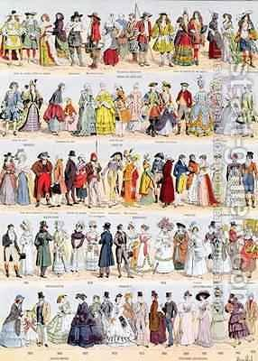 Louis Bombled Pictorial history of clothing in France from the ...