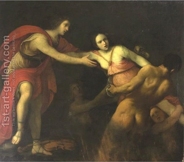 Orpheus And Eurydice - (after) Carlo Cignani - Oil Painting ...