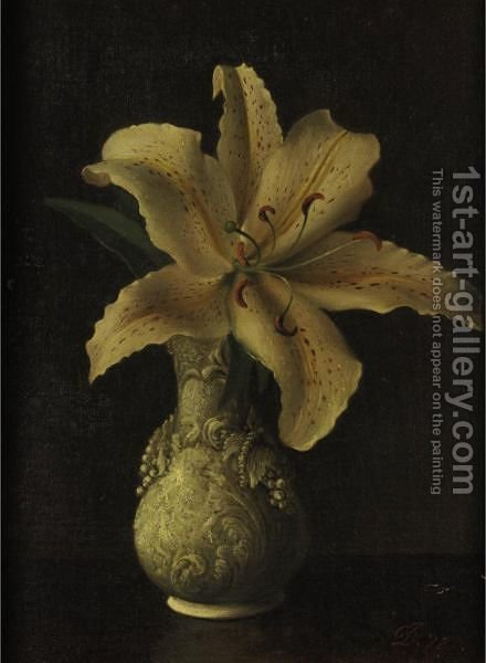 Day Lily In A White Vase David Johnson Reproduction 1st Art Gallery