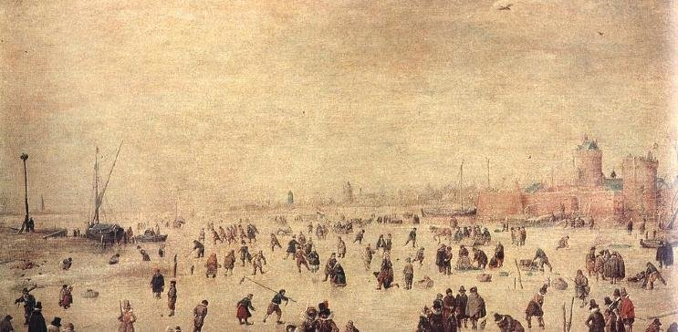 Ice skating oil painting reproductions by 1st-Art-Gallery.com