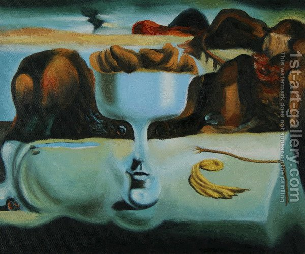 an analysis of the painting apparition of a face and a fruit dish on beach by salvador dali