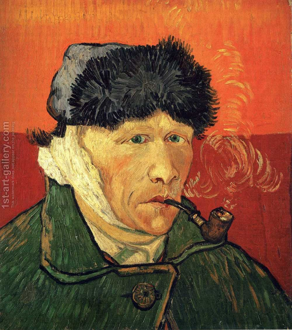 Vincent Van Gogh Self Portrait With Bandaged Ear And Pipe