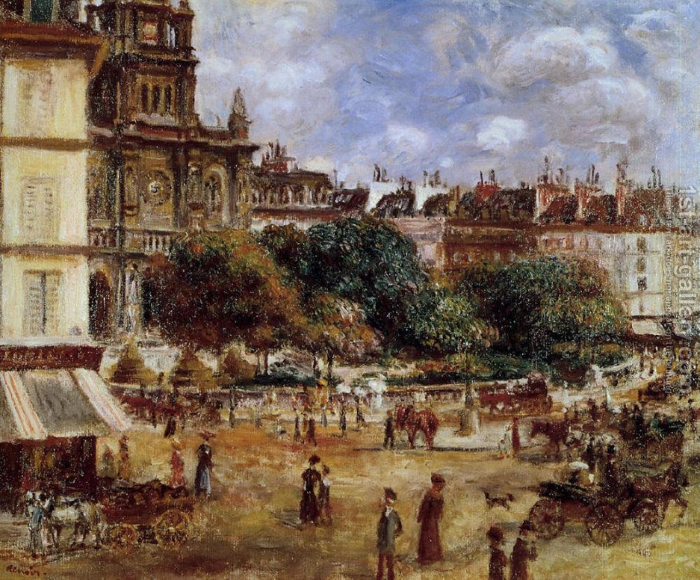 Place de la trinite paris pierre auguste renoir oil for Auguste renoir paris