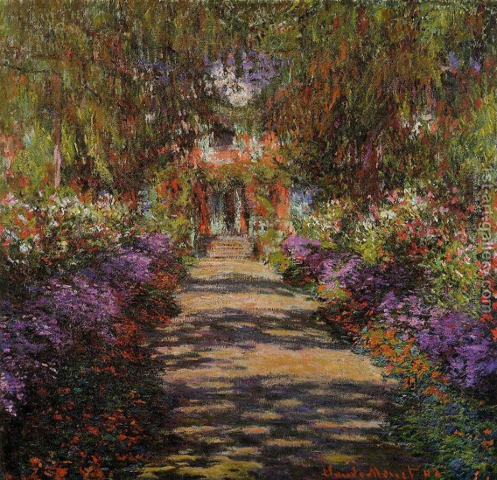 Pathway In Monets Garden At Giverny Claude Oscar Monet Reproduction ...
