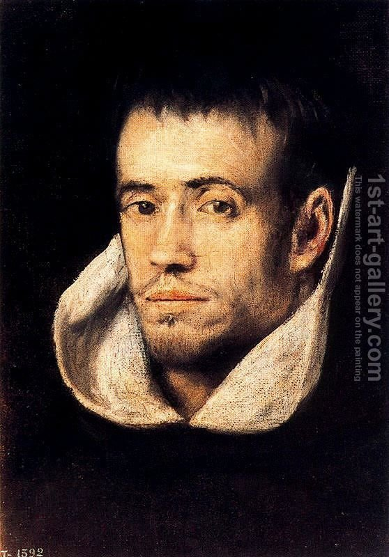 Download Portrait of Dominican (or Trinitarian) Friar 1600s Painting by El Greco Reproduction | 1st Art ...